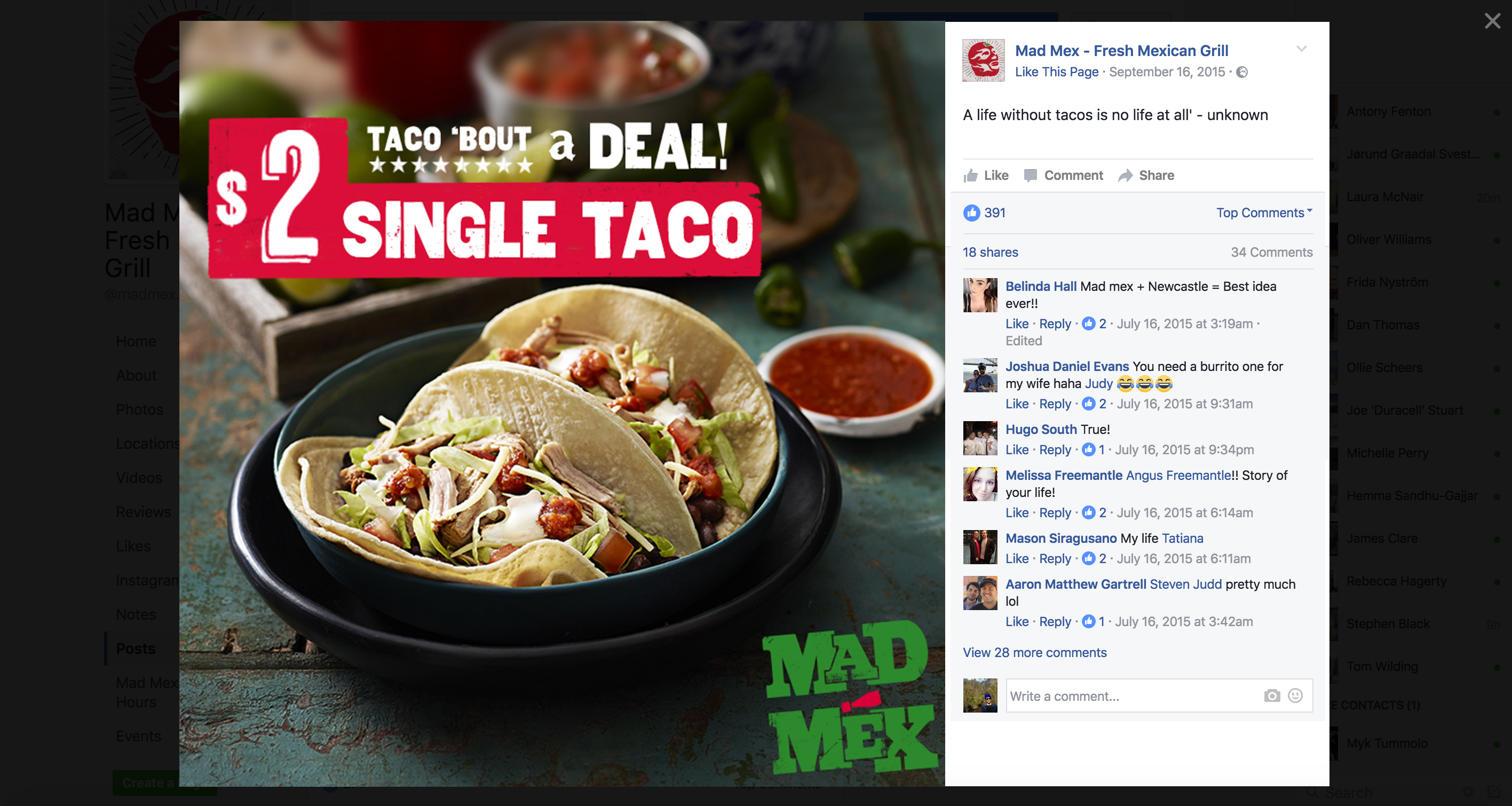 Mad mexsocial post design