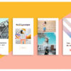 Animated Instagram stories template 1