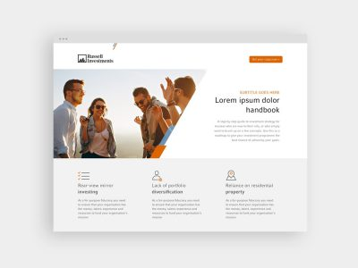 Landing pages for Russell Investments